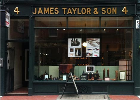 James Taylor bespoke shoes and orthopaedic footwear London shop.