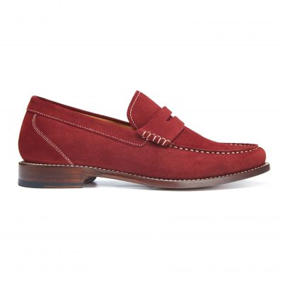 James Taylor & Son – Red Ladies Loafer