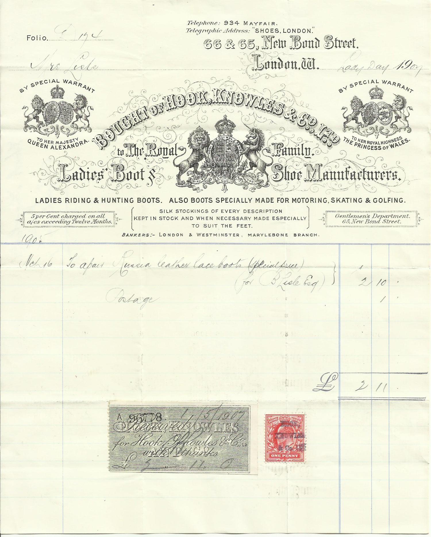 Hook-Knowles - original bill