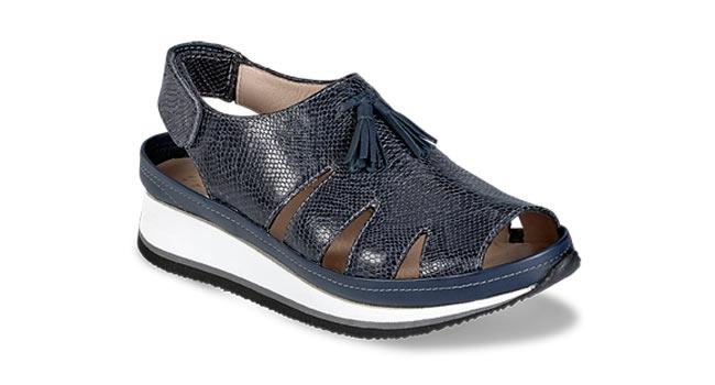 Ladies casual sandal mock snake