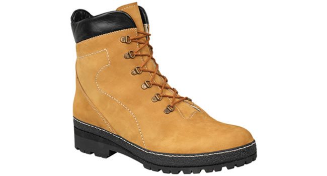 Ladies comfort Walking boot tan