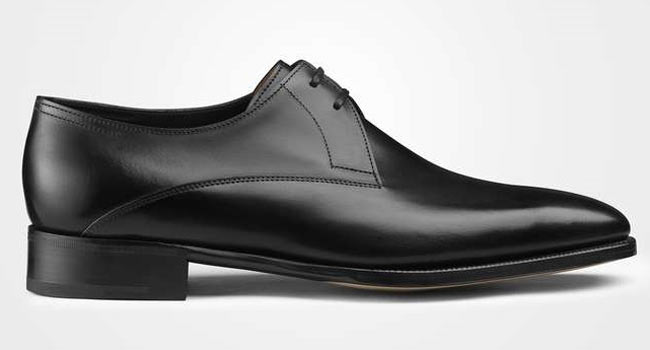 Two-hole Derby in black box calf
