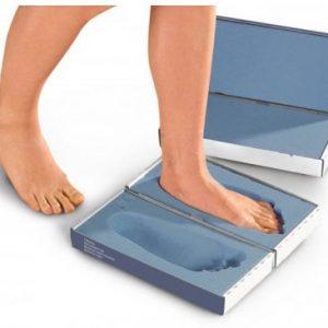 Foam box for foot measuring