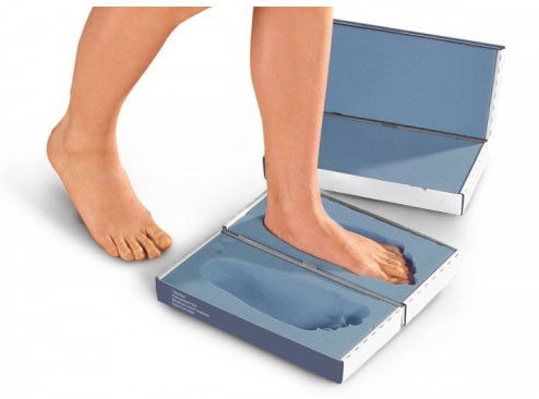 Foam box for foot measuring